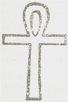 image of the Egyptian cross or Ankh.